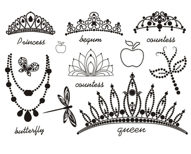 640x517 Waterproof Temporary Fake Tattoo Stickers Cool Black Princess