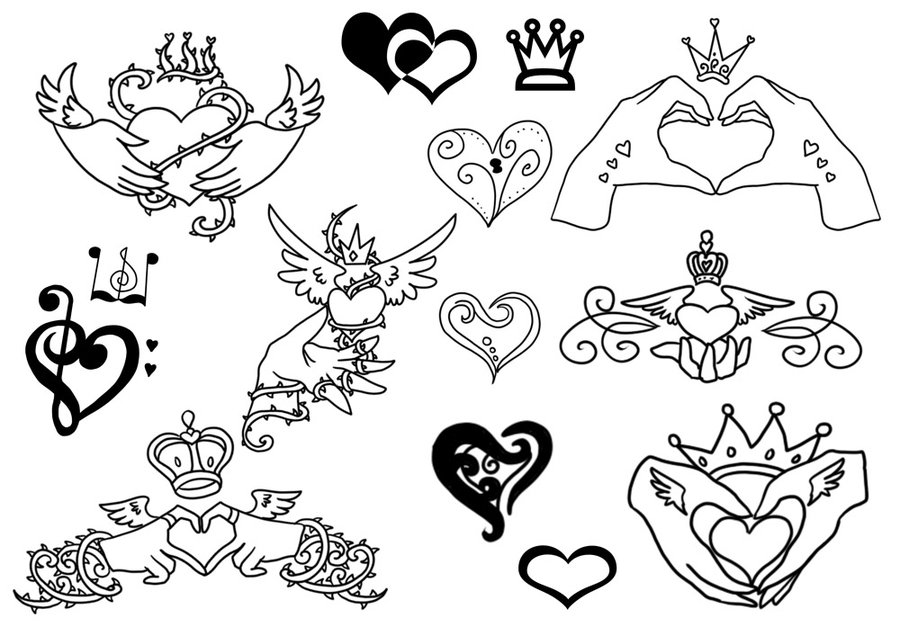 900x636 Claddagh Tattoos By Jiang Ryudo