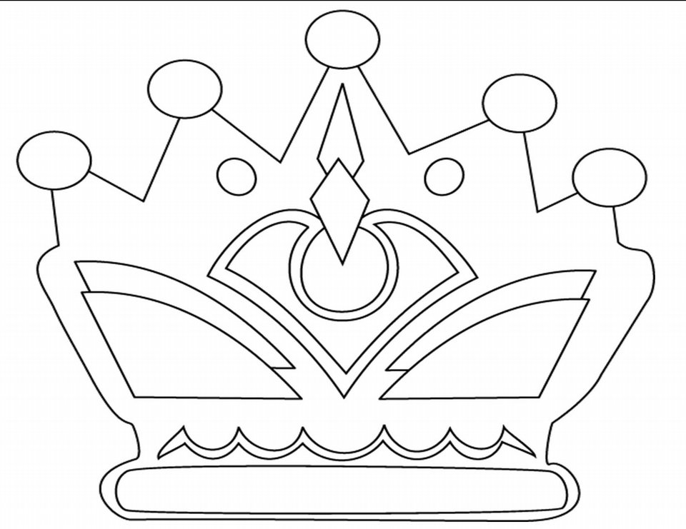 960x741 Crown Coloring Page