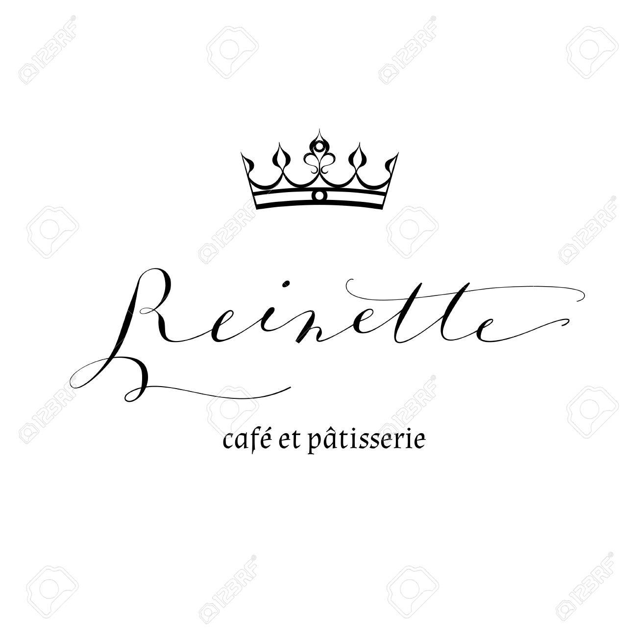 1300x1300 Crown Logo Template, Calligraphy. Reinette Means Little Queen