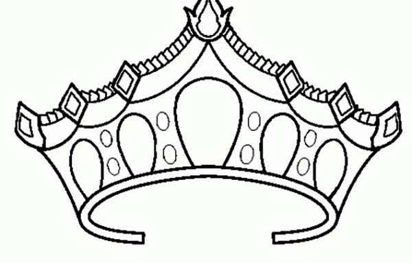 600x383 Drawing Of Princess Crown Coloring Page
