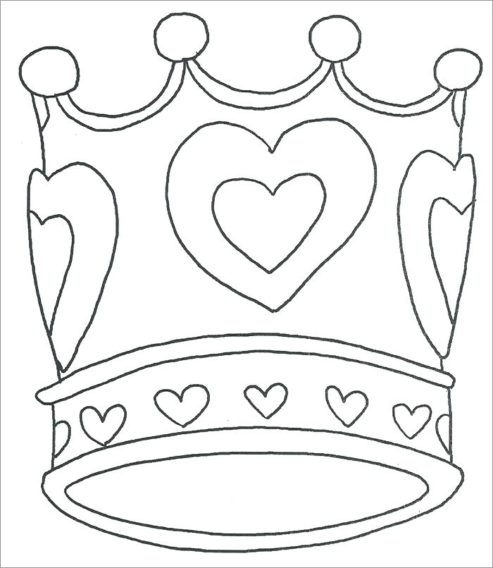 700x806 Elegant Coloring Pages Crown Image Princess Template Page Share