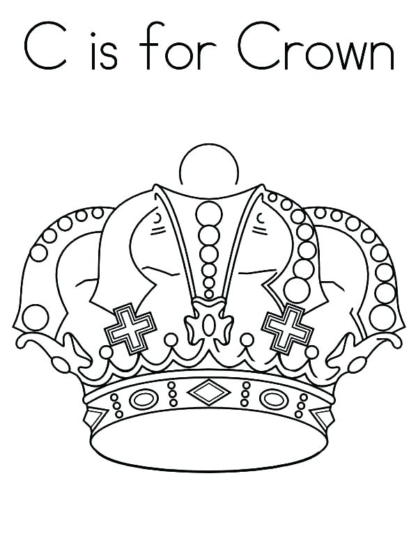 600x776 Entertaining Crown Coloring Page Image Princess Pages To Print