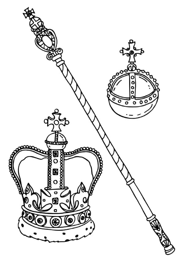 600x848 King And Queen Crown Coloring Pages