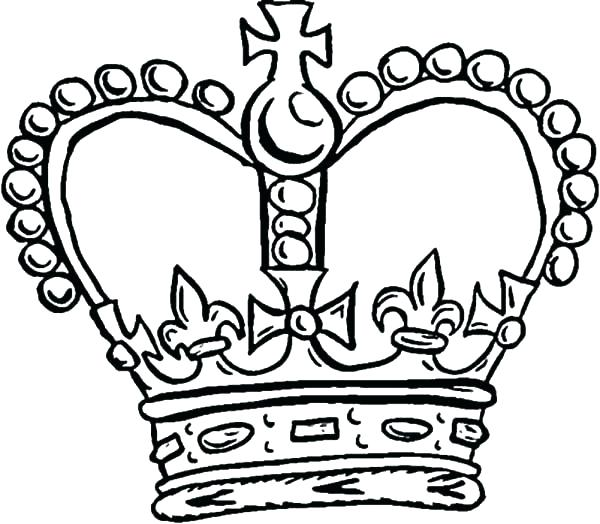 600x524 Awesome Crowns Coloring Pages Best Of Crown Template Free