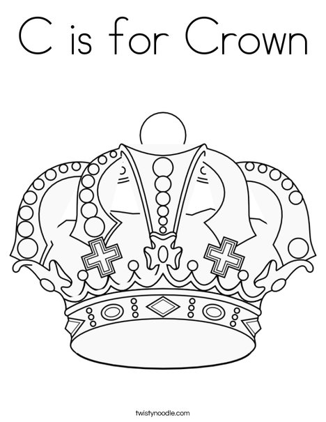 468x605 C Is For Crown Coloring Page