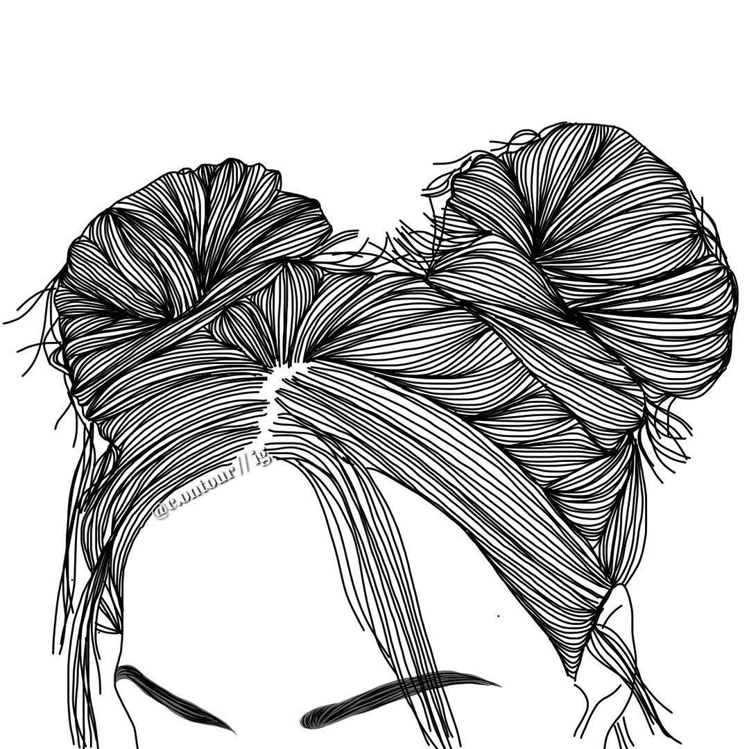 1080x1080 Outline Drawing Of Girl With Face Covered Tumblr