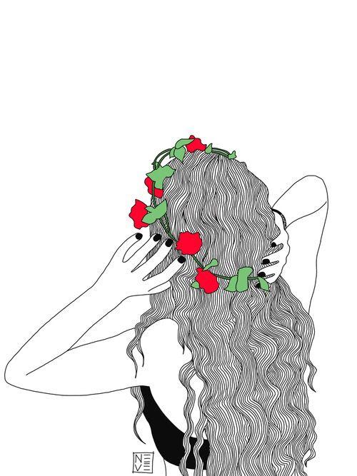 500x667 Imagen De Girl, Outline, And Art Arte Y Dibujo