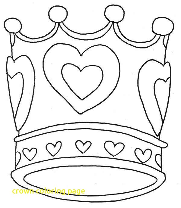 600x691 Crown Coloring Page With Easy To Color Purim Crown Jewels Coloring
