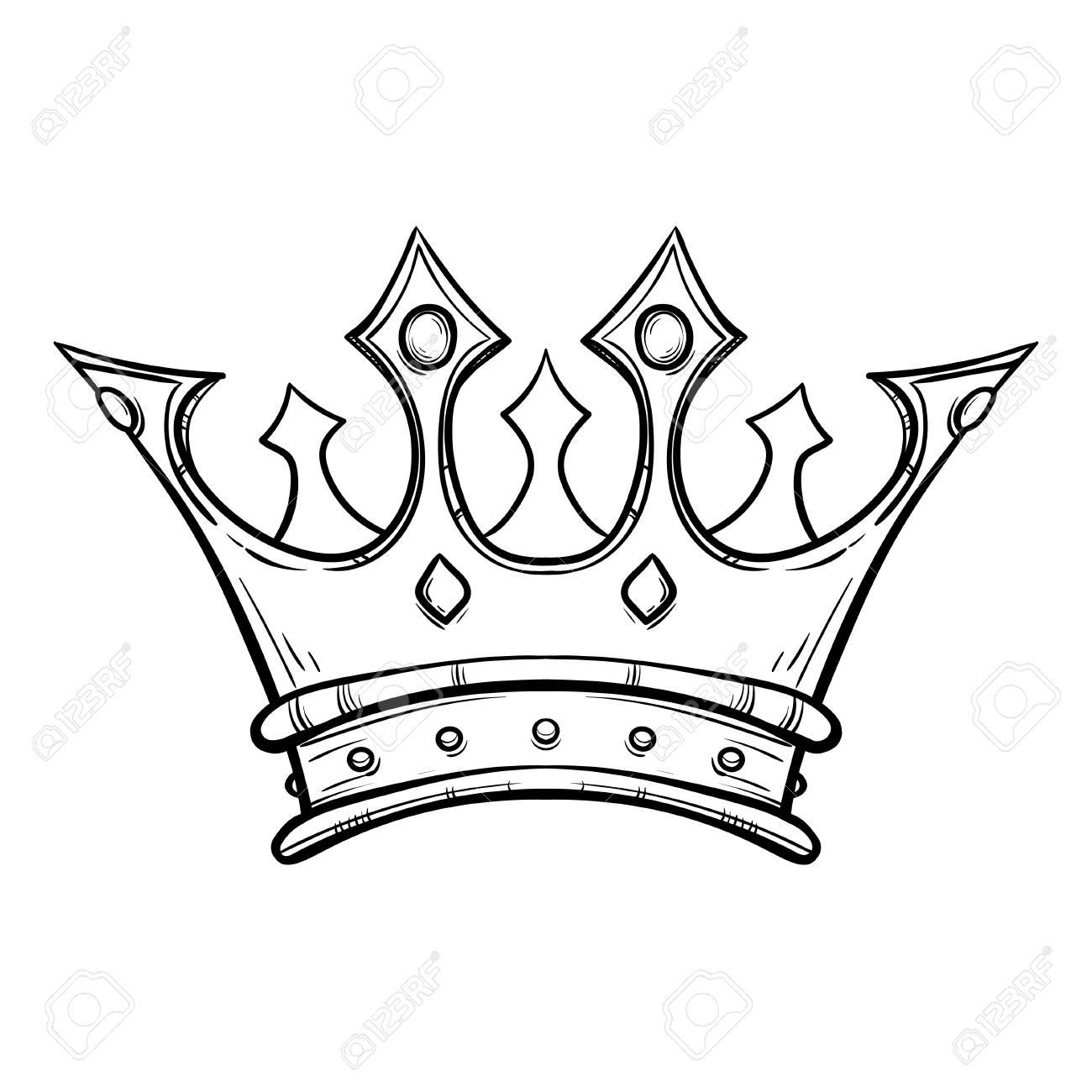 1300x1300 Hand Drawn King Crown Hand Drawn Royalty Free Cliparts, Vectors