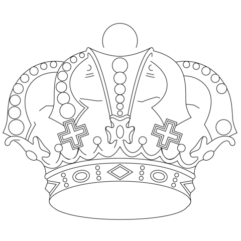 480x480 Royal Crown Coloring Page Free Printable Coloring Pages