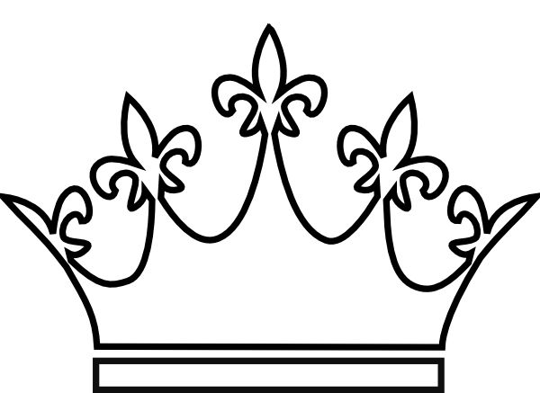 600x437 King And Queen Crown Drawing