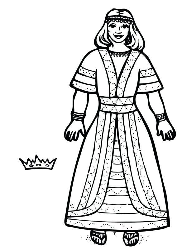 600x800 Queen Esther Coloring Pages 32 Plus Queen Coloring Pages King I