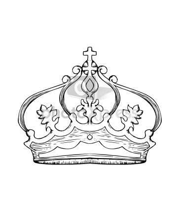 Crown Line Drawing At Getdrawings Com Free For Personal Use Crown