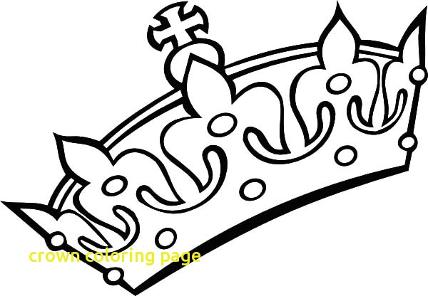 600x416 Crown Coloring Page With Top 30 Free Printable Crown Coloring