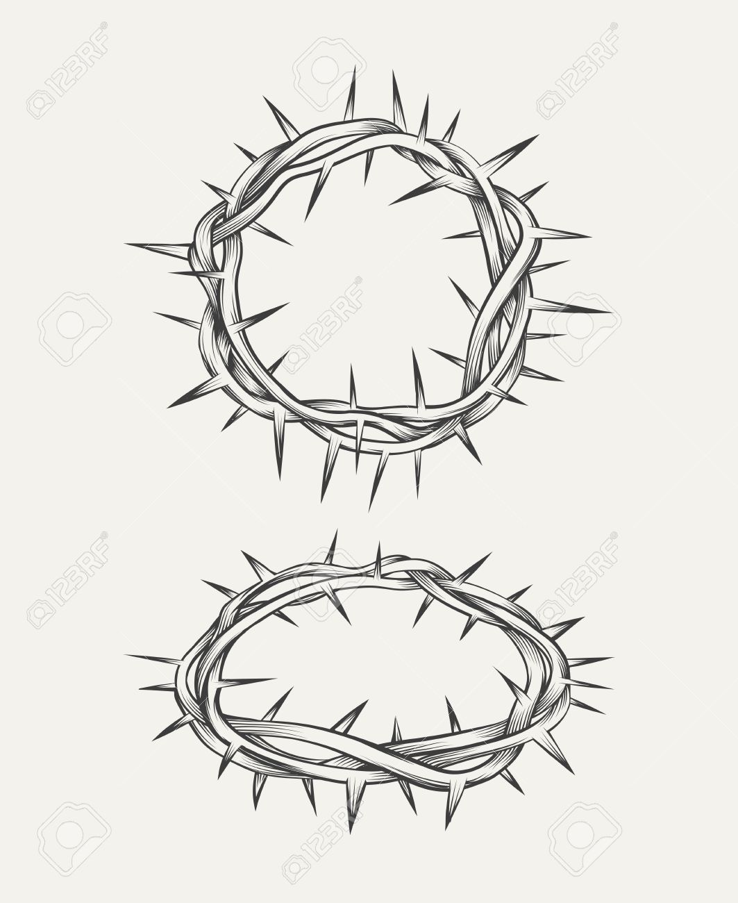 Crown Of Thorns Drawing at GetDrawings.com | Free for personal use ...
