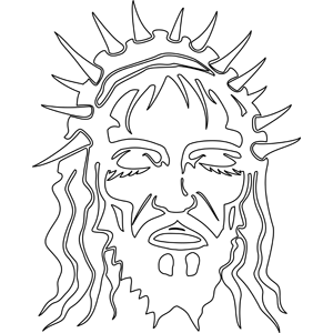 300x300 Christ With Crown Of Thorns Coloring Page