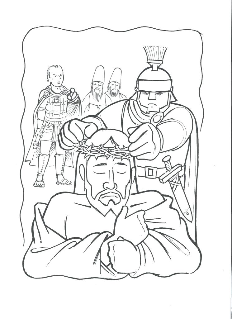 745x1024 Christmas Coloring Pages Jesus Manger Crown Of Thorns Archives