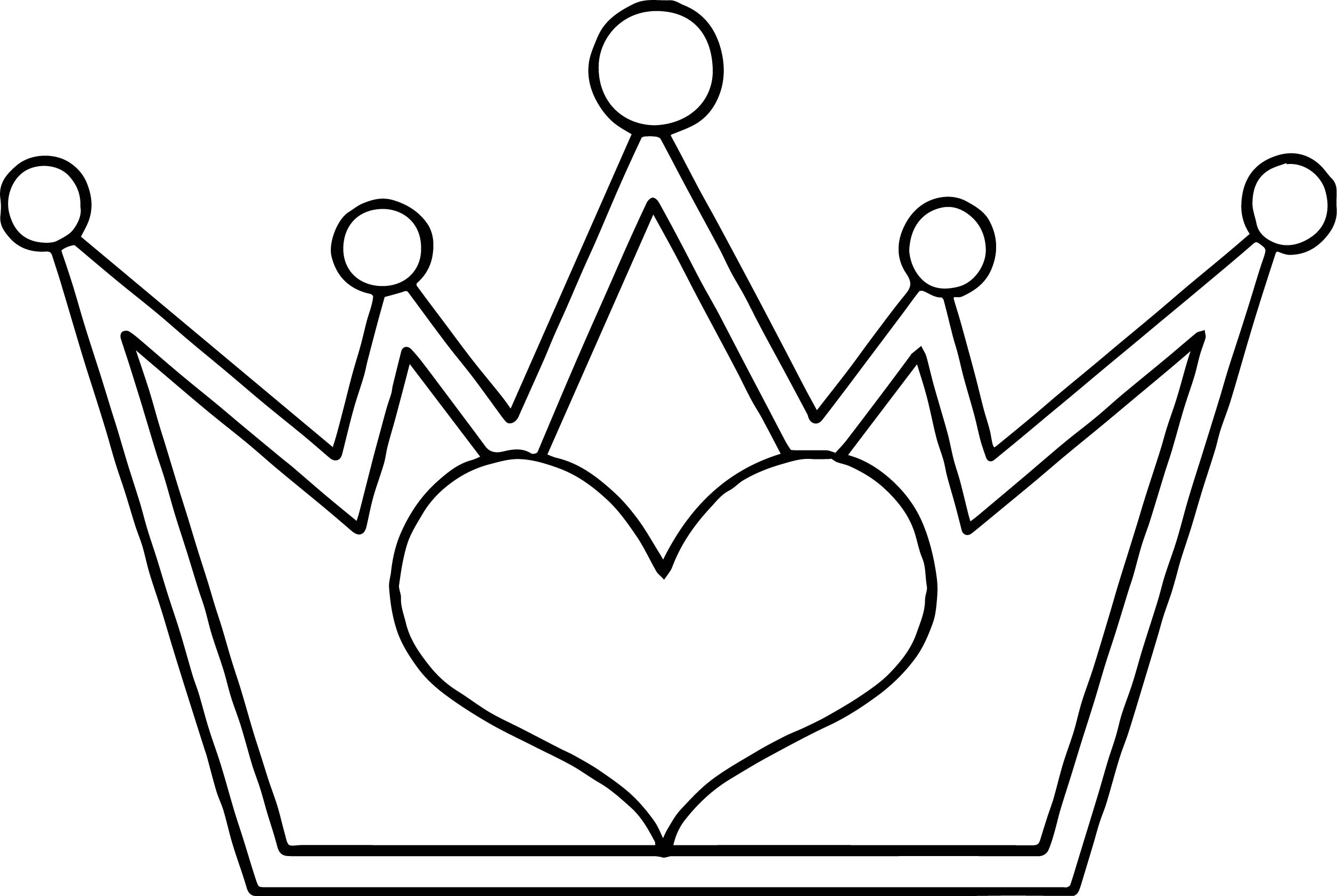make a coloring page from a photo - crown outline drawing at free for