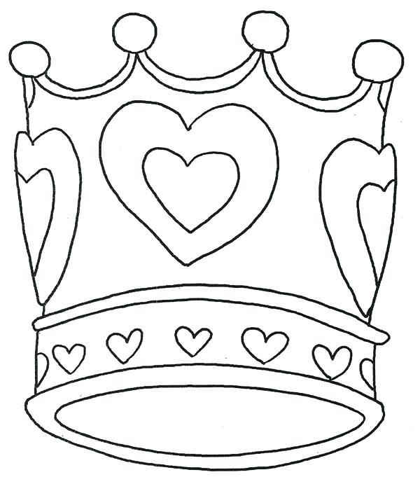 600x691 Crown Coloring Pages Tiara Coloring Pages Royal Crown Crown