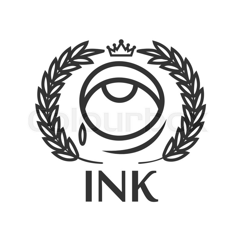 800x800 Ink Tattoo Salon Black Outline Label With Eye, Small Tear, King