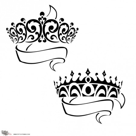 450x450 Prince Princess Crowns Tattoo, But This Would Make Really Pretty