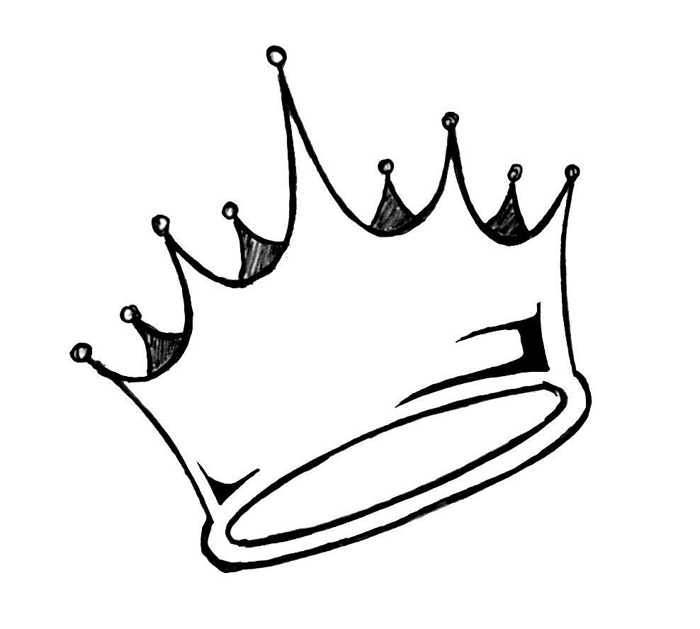 988x888 Princess Crown Tattoo On Back