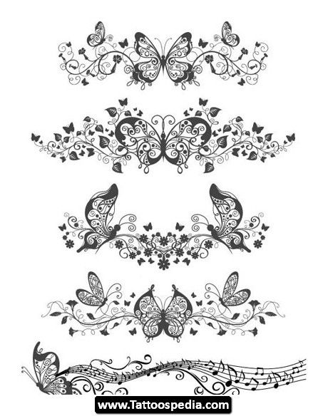 460x584 Collection Of Crown Butterfly Tattoo Designs