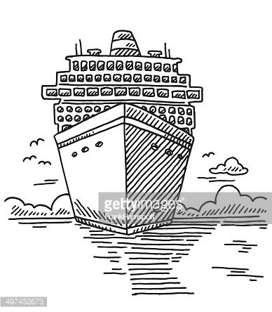 388x444 Cruise Ship Drawing