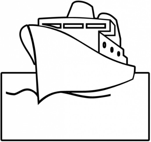 520x488 Free Ship Coloring Pages For Kids And Adults Hubpages