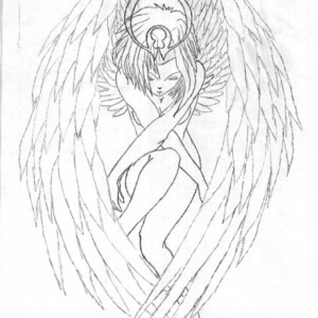 640x640 Guardian Angel Sketch Art Angel Sketch, Guardian