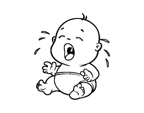 Crying Baby Drawing At GetDrawings.com