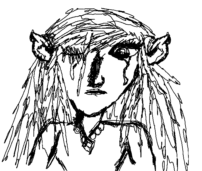 670x568 Quick Sketch Of A Crying Girl Elf By Thatonegirlinfandoms