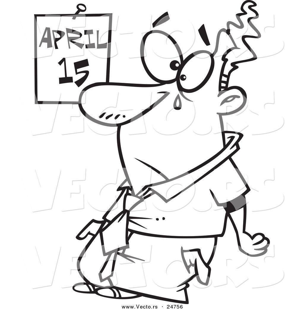1024x1044 Vector Of A Cartoon Sad Broke Man Crying On Tax Day