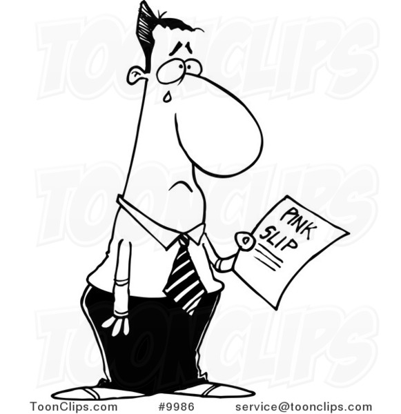 581x600 Cartoon Black And White Line Drawing Of A Crying Business Man