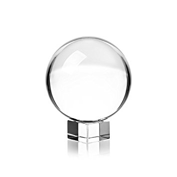 355x355 Clear Crystal Ball With Stand, 60mm Art Decor K9 Crystal Prop