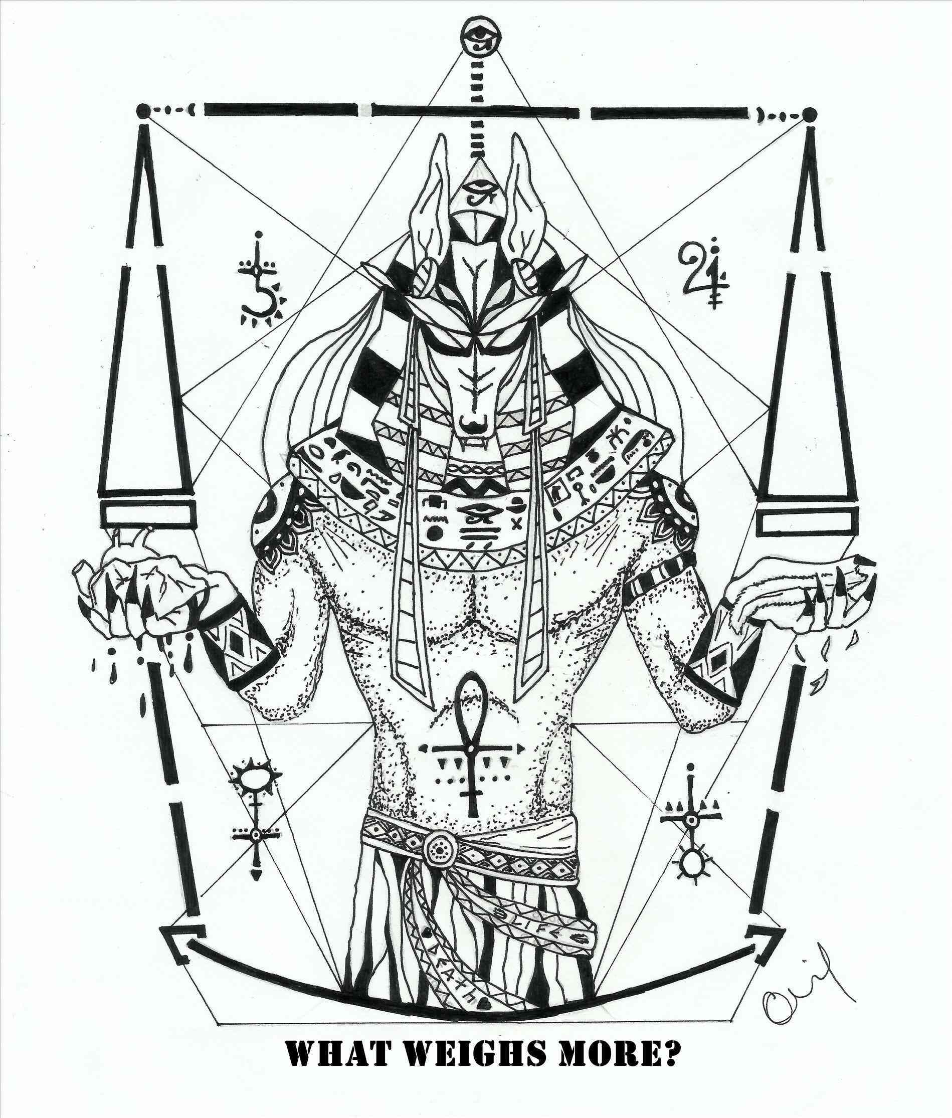 1899x2230 Anubis Neck Tattoo Designs Drawings Artwork By Guilherme Souza U