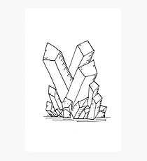 210x230 Crystal Cluster Drawing Photographic Prints Redbubble
