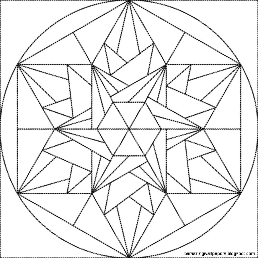 900x900 Geometric Crystal Drawing Amazing Wallpapers