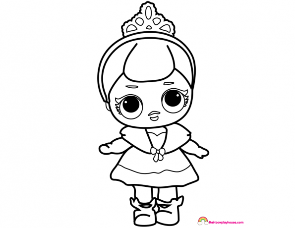 595x460 LOL Dolls Crystal Queen Coloring Page