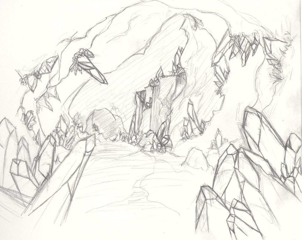 1003x797 Crystal Cave Draft by Hynael on DeviantArt