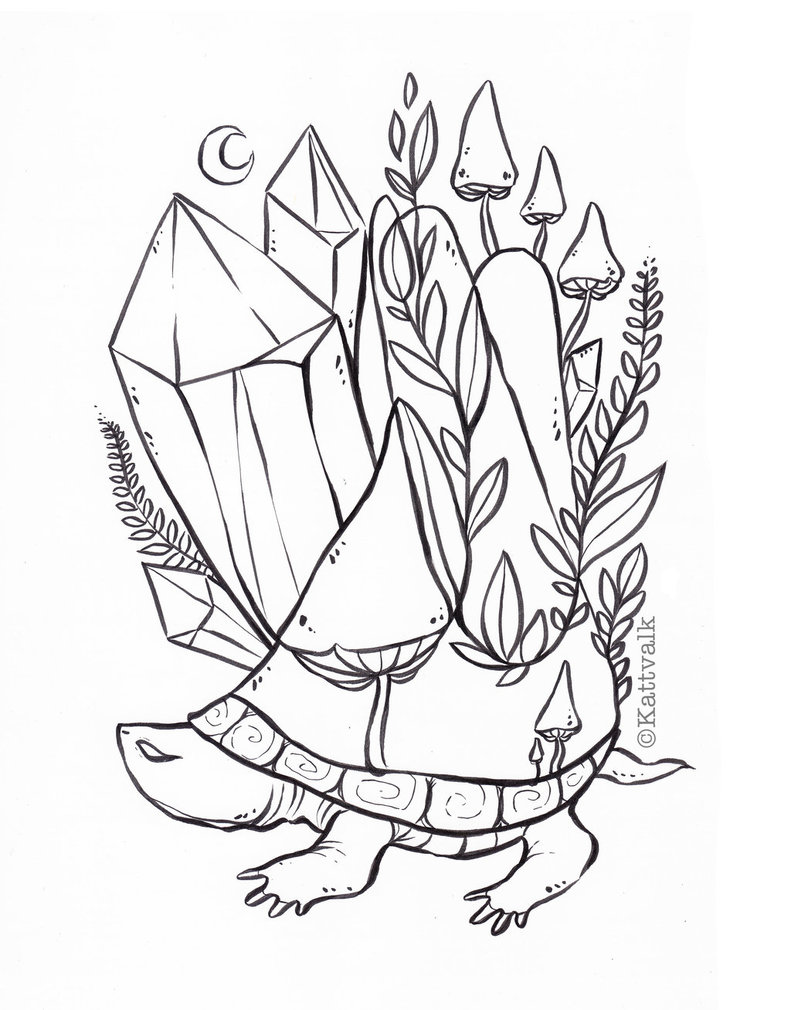 791x1010 Crystal Turtle Free Coloring Page By Kattvalk