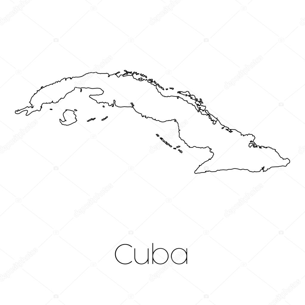 1024x1024 Country Shape Isolated On Background Of The Country Of Cuba