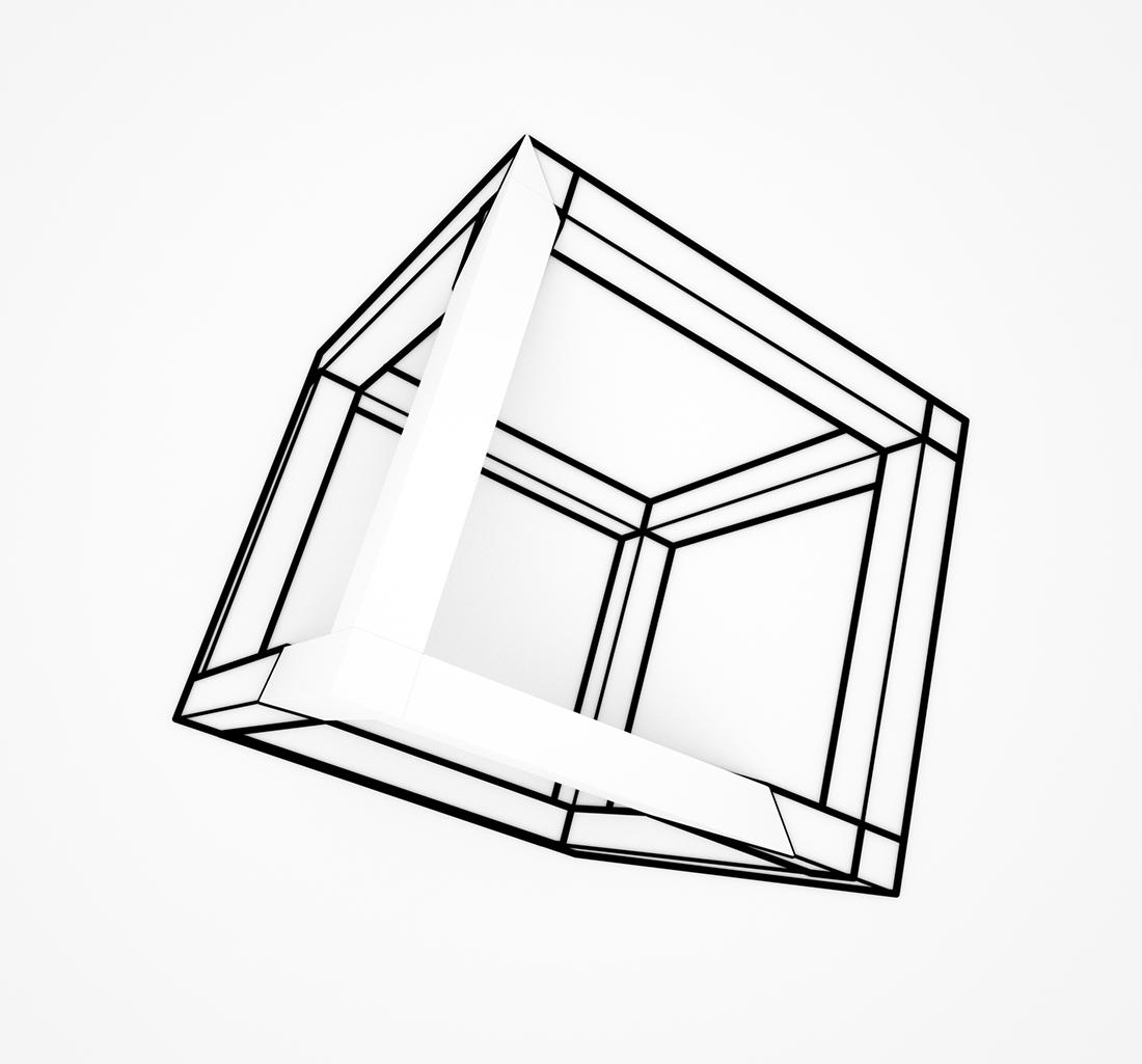 1100x1025 Wall Cube Sculpture And Drawing Pablo Tamayo Pablo Tamayo