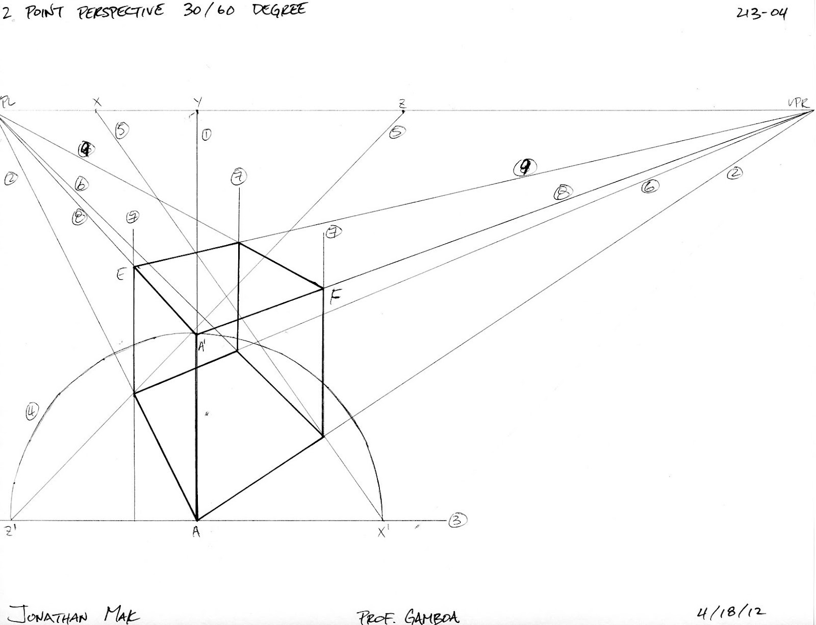1600x1226 Ground Zero Sketching 2 Point Perspective Of A Cube