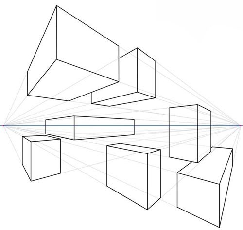 Cube Perspective Drawing