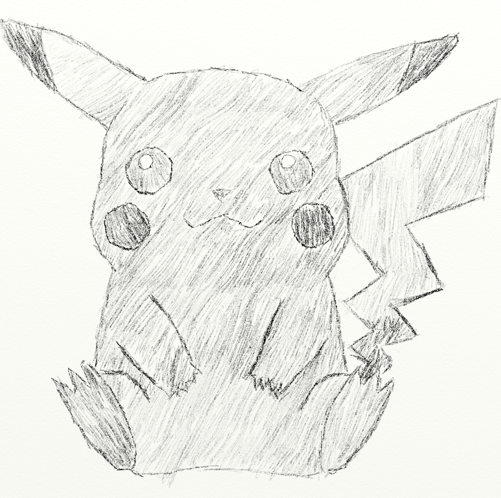 1024x1018 Pikachu Drawing By Kickled Cubicle