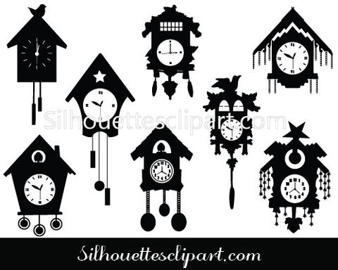 480x384 Cuckoo Clocks Vector Graphics Download For