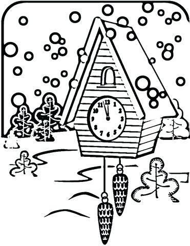 371x480 Clock Coloring Page Analog Picture Pages Jack And