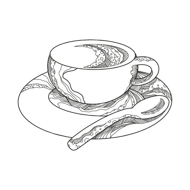 630x630 Cup Of Coffee Doodle
